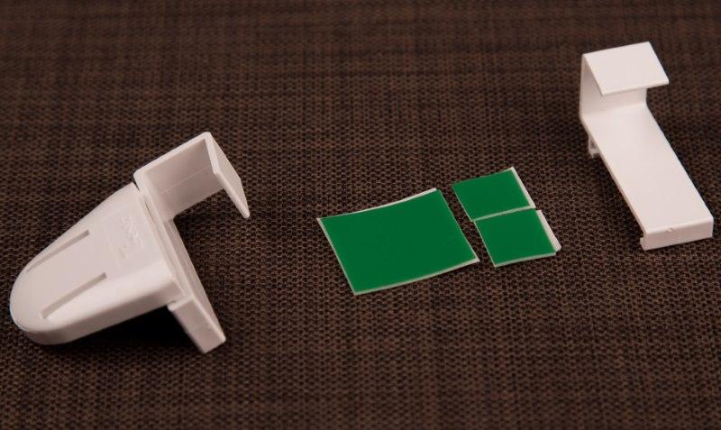 Кронштейны для монтажа рулонной шторы на подвижной створке