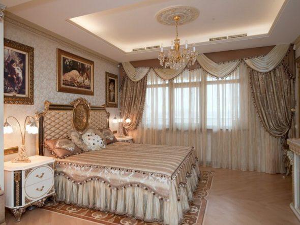 Ламбрекен в спальне