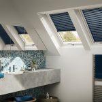Дизайн ванной с мансардными окнами