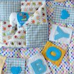Милое одеяло со слониками для новорожденного