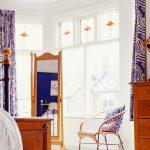 Настенный гибкий карниз для штор в спальню