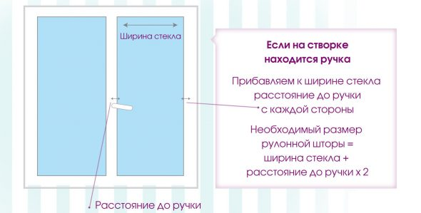 Определяем размер для окна с ручкой