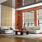 Полупрозрачные римские каскадные шторы для огромной гостиной