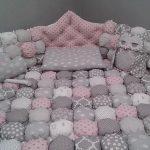Постельный комплект с одеялом в технике бонбон