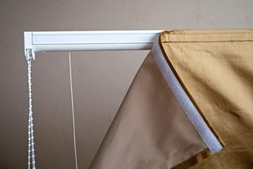 Rрепление шторы на липучку