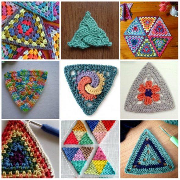 Треугольники, выполненные крючком