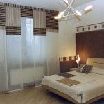 Оформление окон в спальне восточного стиля