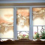 Роликовые шторы с печатным рисунком для спальни