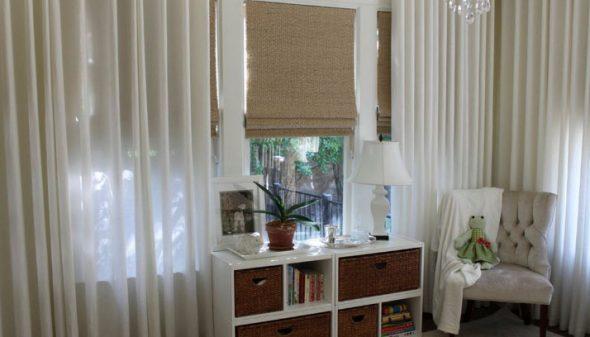 Рулонные шторы с тюлью