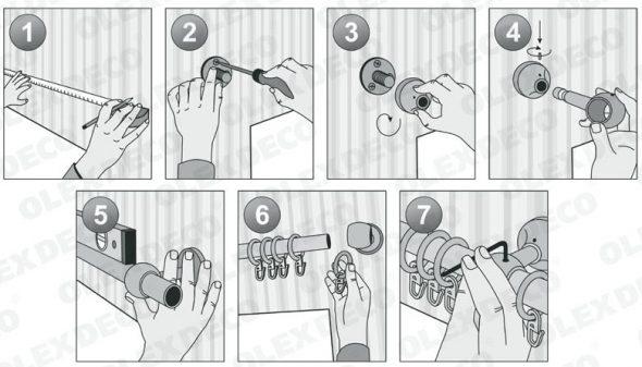 Инструкция по установке карниза в форме трубы