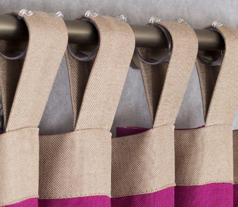 Крепление шторы с помощью тканевых петель