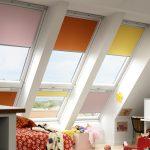 Мансардные окна с рулонными шторами Roltech