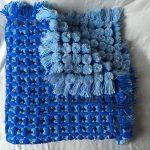 Сине-голубой плед своими руками