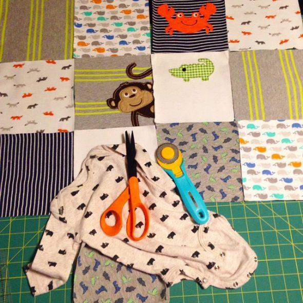 Складываем макет будущего одеяла