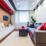 Скрытый карниз для комнаты с натяжным потолком