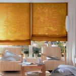 Солнечные римские шторы для уютной гостиной
