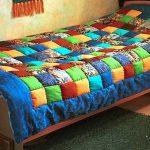Теплое воздушное одеяло из бомбонов на односпальную кровать