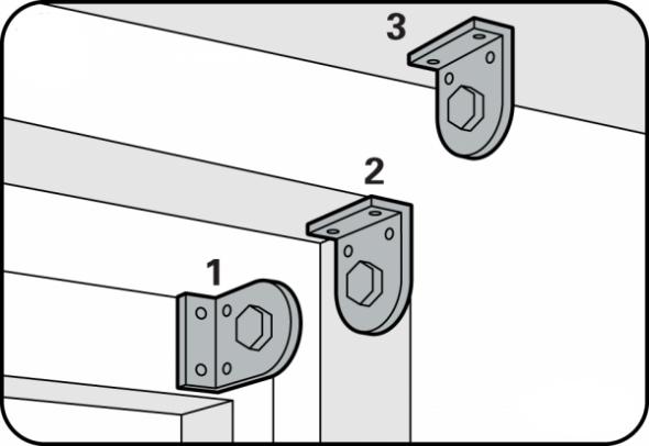 Типы установки рулонных штор