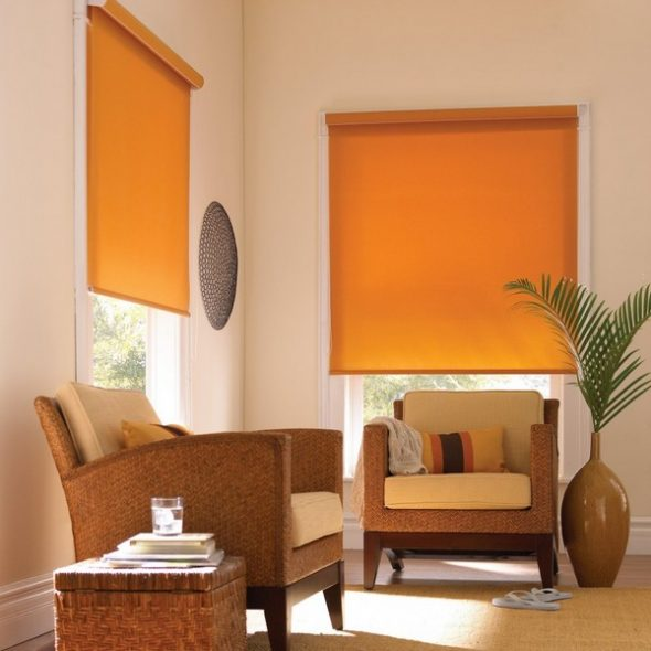 Оранжевые шторы на заказ