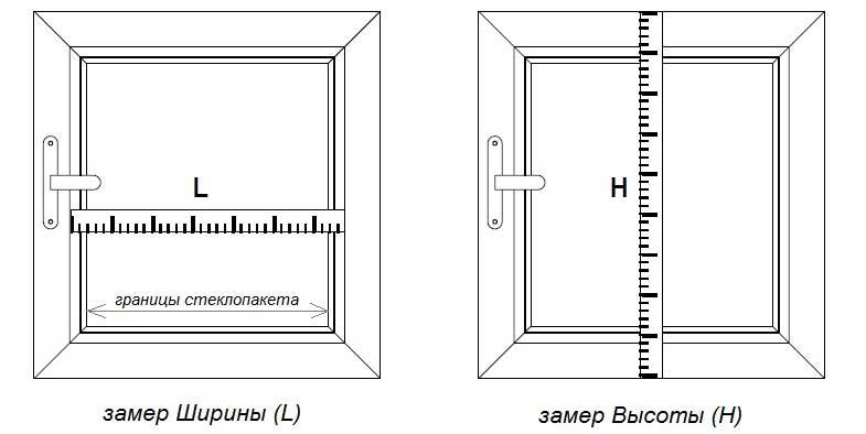 Замер створки окна для рулонной шторы