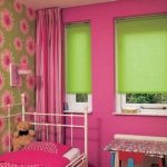 Зеленые рольшторы для детской комнаты