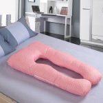 Анатомическая подушка в горошек для будущих мам