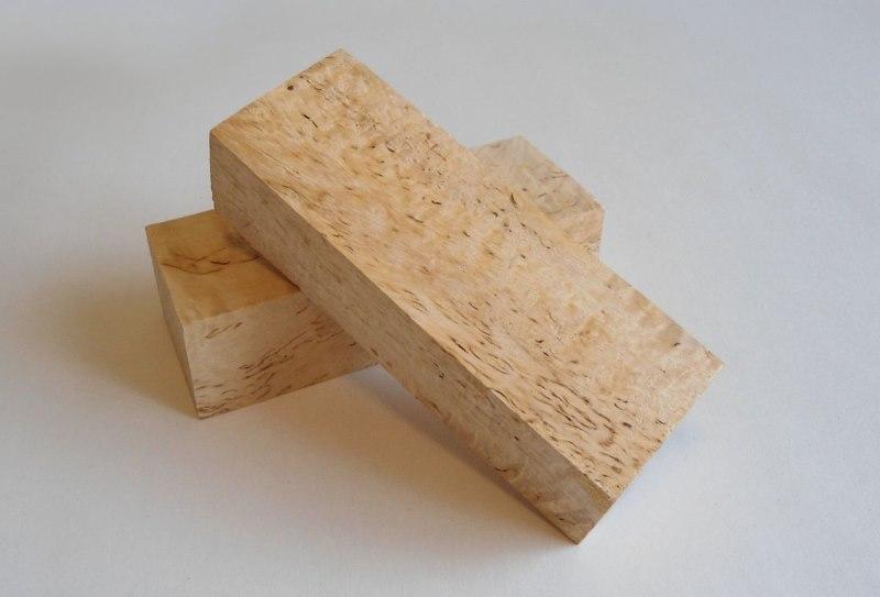 Два березовых брусочка для деревянных чопиков