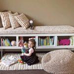 Большой напольный пуф для детской комнаты