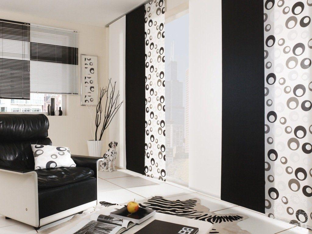 Японские шторы с черным полотном