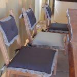 Декоративные подушки на стулья