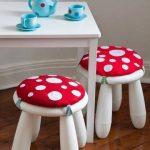 Детские подушки-грибочки для стульев