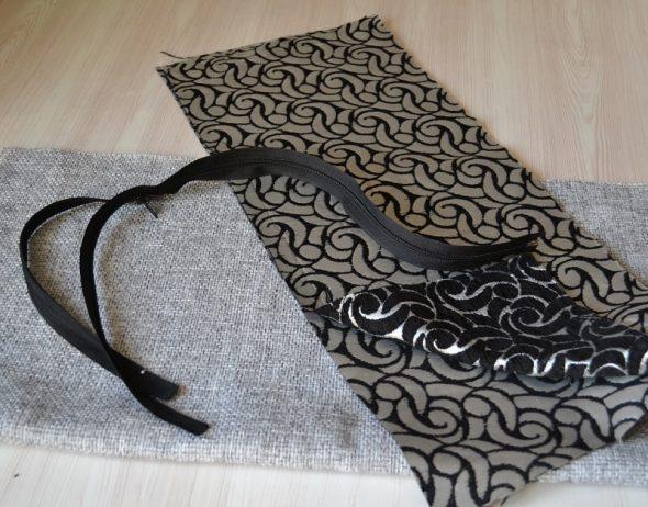 Ткань и молния для подушки