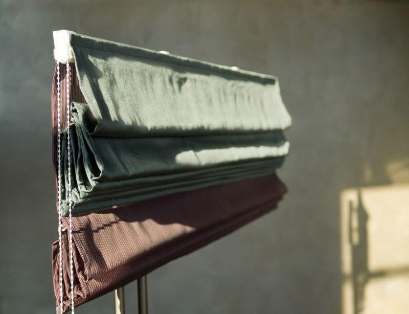Фото карниза для двойной римской шторы