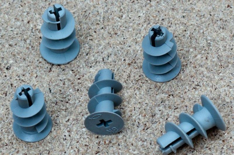 Пластиковые дюбели Дрива с тупым наконечником