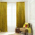 Красивые шторы до пола из бархатной ткани