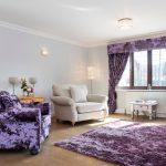 Красивый текстиль фиолетовой расцветки