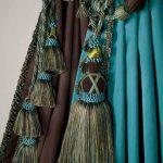 Красивые подвязки для штор бирюзового цвета