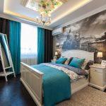Реалистичные фотообои на стене спальни