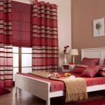 Римская штора в сочетании с прямыми портьерами