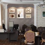 Рабочее место секретаря в комнате для переговоров