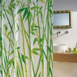 Изображение бамбука на ПВХ занавеске