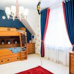Синие шторы в детской комнате