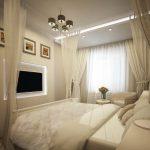 Дизайн небольшой спальни в пастельных тонах