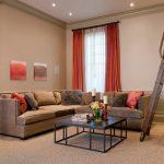 Угловой диван в дизайне гостиной