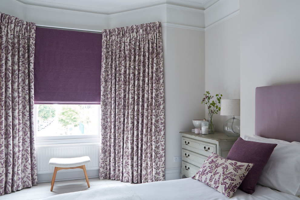 Удачное сочетание текстиля в интерьере спальни