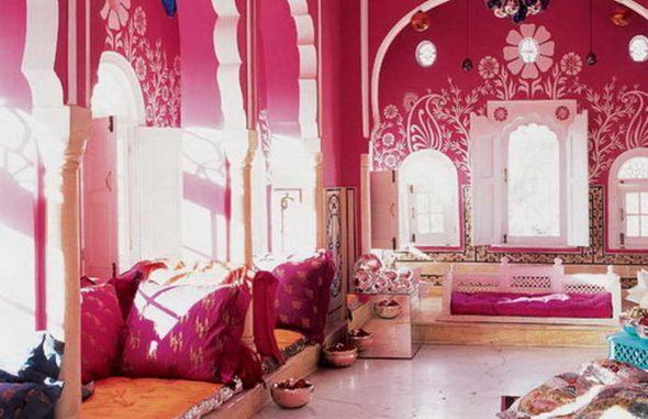 Комната отдыха в индийском стиле