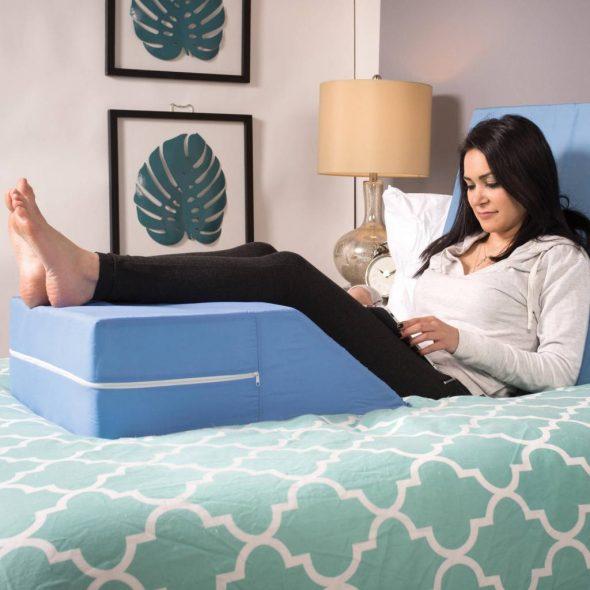 Использование подушки для ног