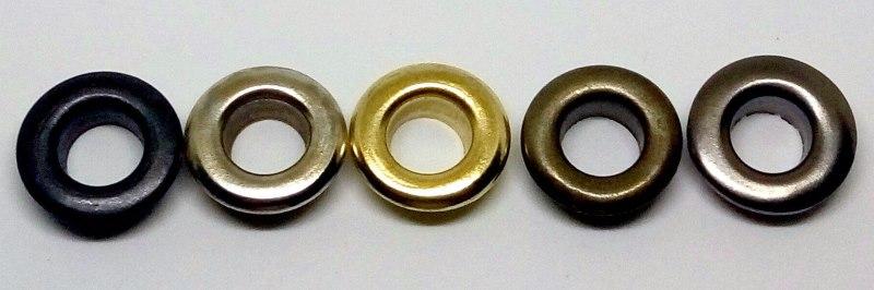 Разнообразие металлических люверсов разных оттенков