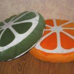 Мягкие подушки в виде фруктов