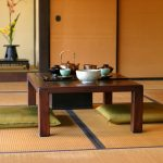 Напольные подушки для чаепития в японском стиле
